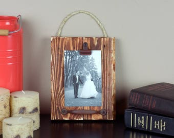 Rustic Picture Frame - 4x6 Picture Frame - Wood Picture Frame - Distressed Picture Frame - Brown Picture Frame - Vintage Frame - Shabby Chic