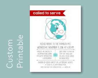 Young Women Missionary MTC Globe Invitation