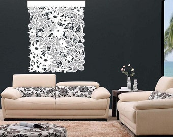 Designer Laser Cut Backdrops | Home Decor, Interior Design, Wall Hangings, Fashionable: Floral Wall Design 3