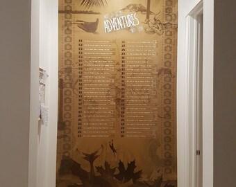 "Huge custom ""Bucket-list/Milestone"" Vinyl Wall graphic. Personalized, artistic, creative, unique and a conversation piece"