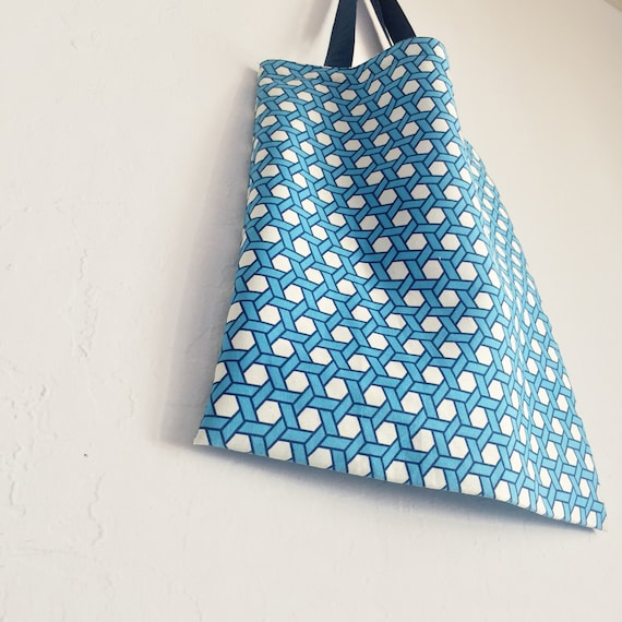 Must blue eco bag cotton bag fabric bag canva bag reusable for Rideaux heytens