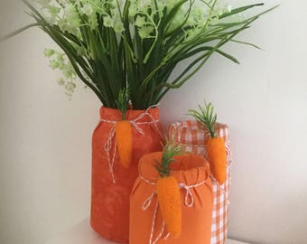 Decorated glass jars