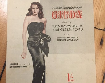 "Gilda - ""Amado Mio"" sheet music (Rita Hayworth / Glenn Ford)"