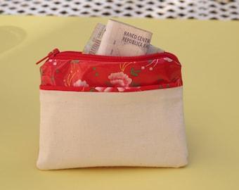 Bohemian red wallet
