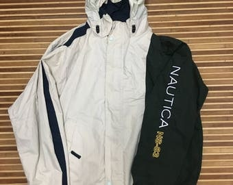 SALE 15% Vintage Nautica Jacket Reversible size XL