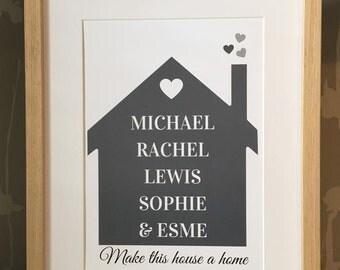 Bespoke Family house print