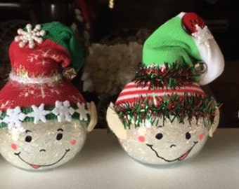 Christmas Elf ornaments -set of 6