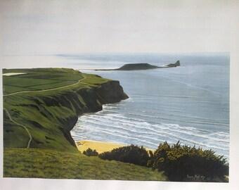 A3 Art print from my original painting. Rhosilli Gower. Landscape unframed
