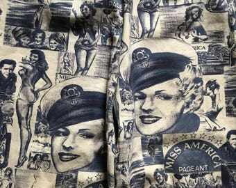 Women's Vintage Marilyn Monroe Miss AMERICA Pageant All Over Print Pants