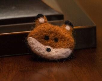 Needle Felted Wool Fox Magnet