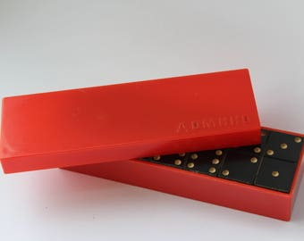 Soviet dominoes  Vintage dominoes. Antique dominoes. old game. classic game. USSR game. Vintage game. old game. board game