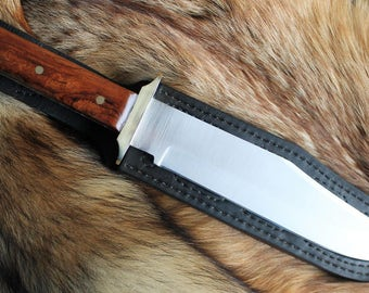 Bowie style knife with file work