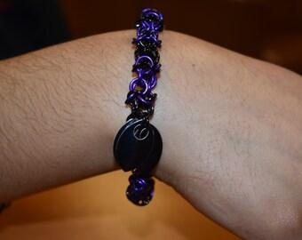 inverted round chainmaille variation bracelet