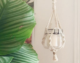 Handmade macrame braided cotton thread