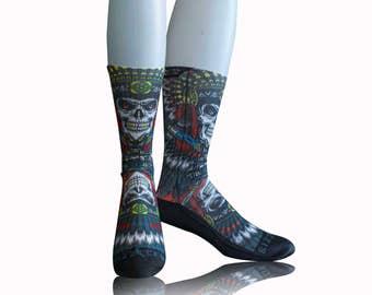 Handmade Sublimated Socks style Apache