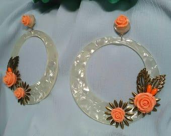 Flamenco earrings, party earrings, fair earrings, flowers earrings, mother's Day