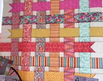 Woven Ribbons Quilt Kit (throw size)