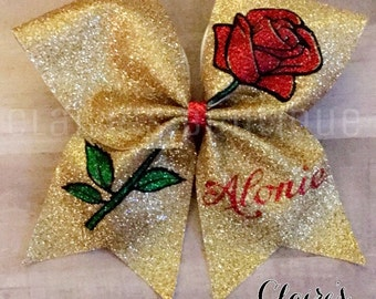 Beauty and Beast Inspired Cheer Bow