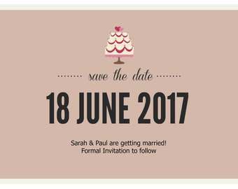 Wedding Cake Save The Date