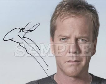 Kiefer Sutherland signed 8x10 Autograph RP - Great Gift Idea - Ready to Frame photo picture!