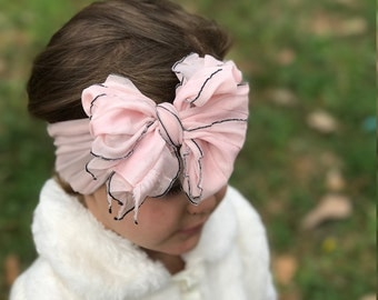 Light Pink Ruffle bow