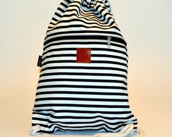 Backpack with stripes