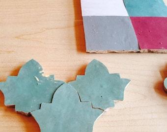 handmade glazed clay tiles - Moroccan / Arabesque