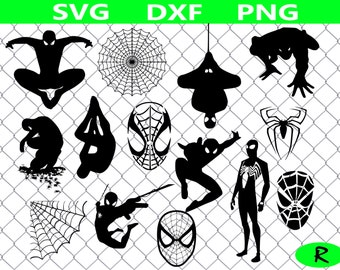 Spiderman SVG Bundle, Superhero SVG , Spiderman clipart, svg files for silhouette, cricut, vector, dxf, cut files, cutting template, vinyl
