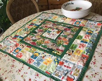 Vegetable Kitchen Rustic Patchwork Quilted Table Topper