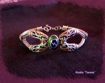 "BRACELET BERBER ""TANINNA' massive Silver 925/1000 & email"