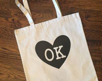 OK/Oklahoma Canvas Tote Bag