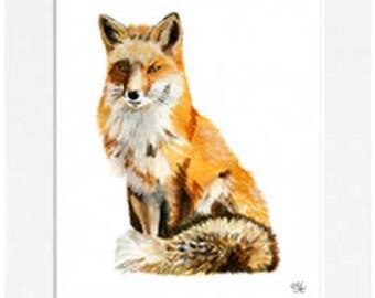Fox Mounted Print (40 x 50cm)