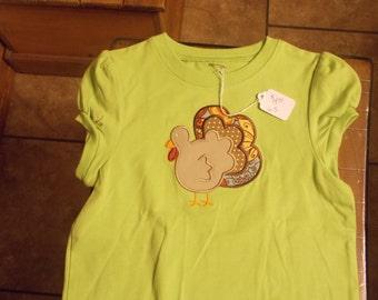 Monogram Girls Turkey Shirt size 5