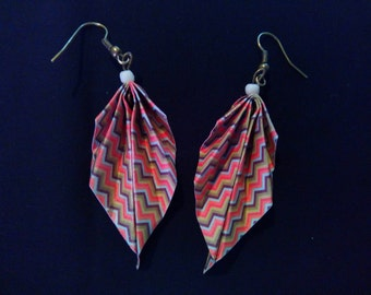 striped origami #19 earrings