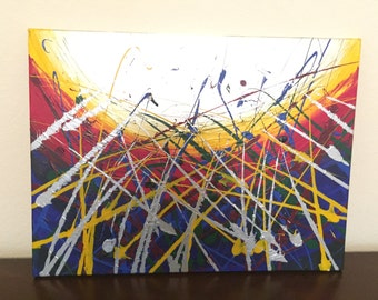 """Up From the Sea - 18x24"""" Abstract Acrylic on Canvas"""
