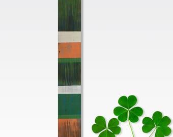 Irish Wall Hanging, Irish Decor, Wood Wall Decor, Wood Wall Hanging, Irish Flag Colors, Wall Decor, Irish Wood Wall Decor, Narrow Wall Art