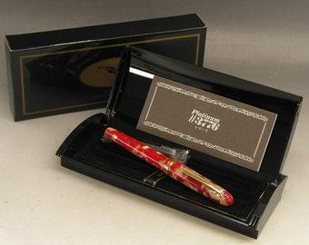 Platinum Fountain Pen # 3776 Century Celluloid Koi w/ Gold Trim Ship from Japan