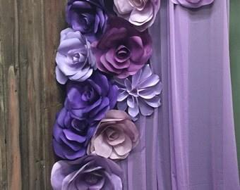 Purple Bridal Shower Wall