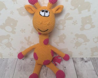 Crochet amigurumi Giraffe, stuffed giraffe toy, animal toy giraffe, giraffe gift, giraffe baby shower