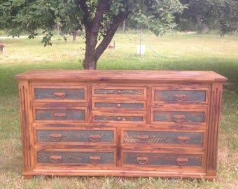 Rustic dresser, wolf lodge dresser, barnwood dresser, bedroom furniture