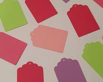 Set of 20 Colorful Cardstock Gift Tags  Die Cut