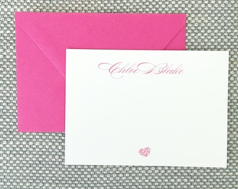 Custom Stationery // Set of 20 cards // Personalized Stationery