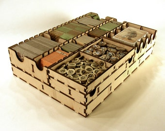 Caverna board game, wood insert, organizer game