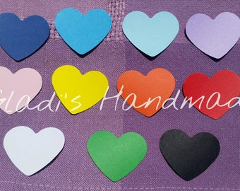 100 hearts cardstock tags