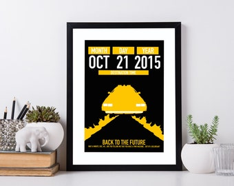 Back To The Future - Minimalist Poster - Movie Print