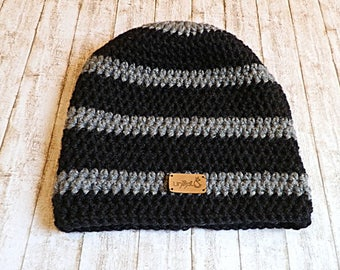 Boys Hat grey black