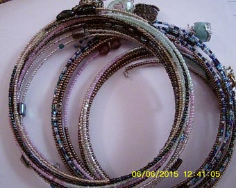 """Beaded """"Coilet"""" choker necklace (varying sorts of charms and focal points)"""