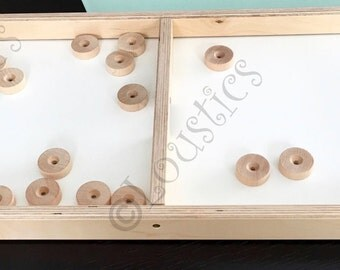 """Wooden elastic-pitch game (birch), french """"Passe-Trappe"""" Junior format; dexterity game perfect for parties and evenings with your family"""