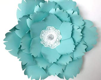 PDF Paper Flower template, Digital Version, Now Including The Base - #38