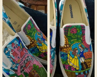 Mozaïek Converse sneakers Beauty and the beast